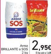 Oferta de Arroz BRILLANTE o SOS por 2,95€
