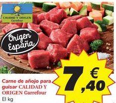 Oferta de Carne de añojo para guisar CALIDAD Y ORIGEN Carrefour por 7,4€