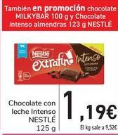 Oferta de Chocolate con leche intenso NESTLÉ  por 1,19€