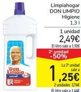 Oferta de Limpiahogar DON LIMPIO Higiene  por 2,49€