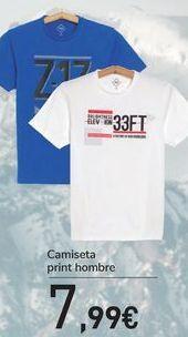 Oferta de Camiseta print hombre  por 7,99€