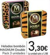 Oferta de Helados bombón MAGNUM Double por 3,3€
