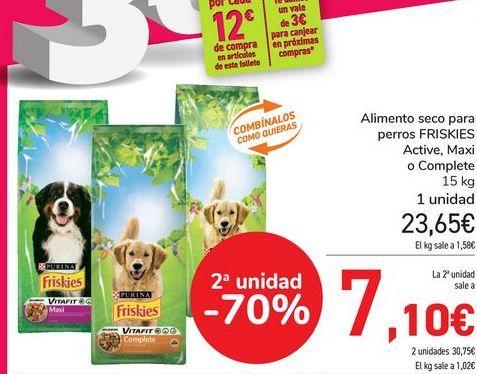 Oferta de Alimento seco para perris FRISKIES Active, Maxi o Complete  por 23,65€
