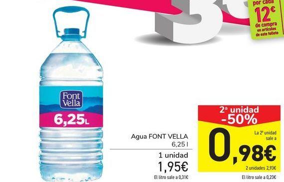 Oferta de Agua FONT VELLA  por 1,95€