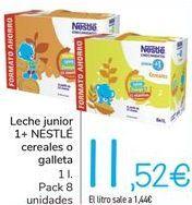 Oferta de Leche junior 1+ NESTLÉ Cereales o galletas  por 11,52€