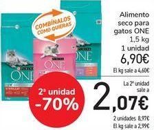 Oferta de Alimento seco para gatos ONE por 6,9€