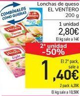Oferta de Lonchas de queso EL VENTERO por 2,8€