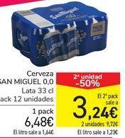 Oferta de Cerveza SAN MIGUEL 0,0  por 6,48€