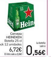 Oferta de Cerveza Heineken por 6,72€
