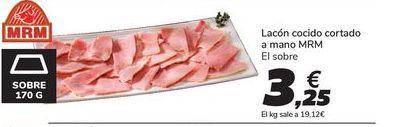 Oferta de Lacón cocido cortado a mano MRM por 3,25€