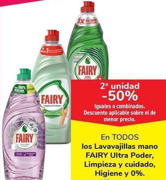 Oferta de En TODOS los Lavavajillas mano FAIRY Ultra Poder, Limpieza y cuidado, Higiene y 0% por