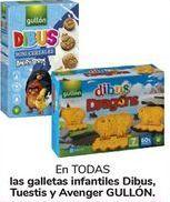 Oferta de En TODAS las galletas infantiles Dibus, Tuesti y Avenger GULLÓN por