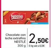 Oferta de Chocolate con leche extrafino NESTLÉ  por 2,5€
