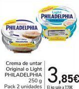 Oferta de Crema de untar Original o Light PHILADELPHIA por 3,9€