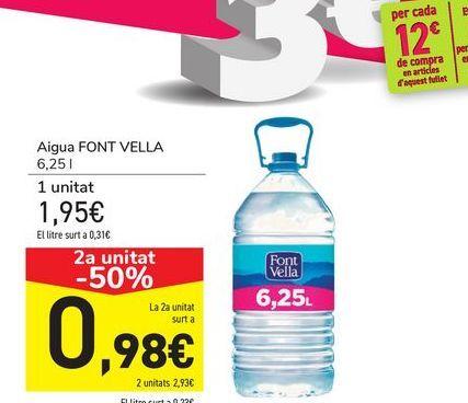 Oferta de Agua FONT VELLA  por 1,94€