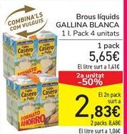 Oferta de Caldos líquidos GALLINA BLANCA por 5,65€