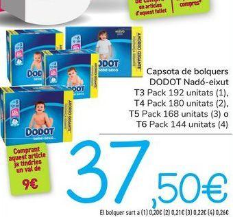 Oferta de Cajón de pañales DODOT Bebé-seco  por 37,5€