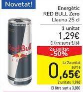 Oferta de Energéticos RED BULL Zero  por 1,29€