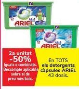 Oferta de En TODOS los detergentes Cápsulas ARIEL por