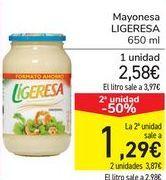 Oferta de Mayonesa LIGERESA por 2,58€