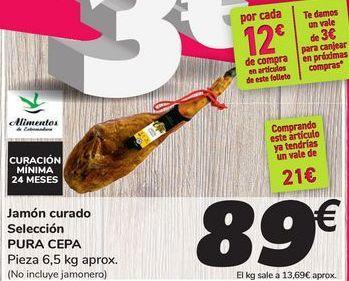 Oferta de Jamón curado Selección PURA CEPA por 89€