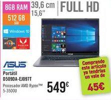 Oferta de Portátil D509DA-EJ097T ASUS por 549€