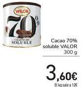 Oferta de Cacao 70% soluble VALOR  por 3,6€