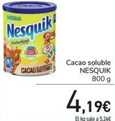 Oferta de Cacao soluble NESQUIK  por 4,19€