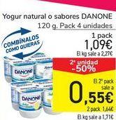 Oferta de Yogur natural o sabores DANONE por 1,09€