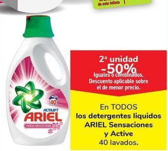 Oferta de Detergente líquido ARIEL ORIGINAL por 15,9€