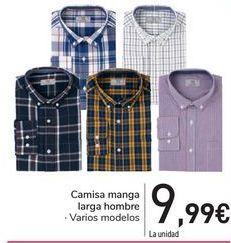 Oferta de Camisa manga larga hombre  por 9,99€