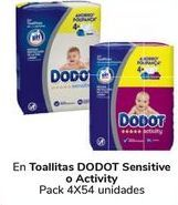 Oferta de En Toallitas DODOT Sensitive o Activity  por