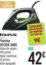 Oferta de Plancha GEYSER 3000 Taurus por 42€