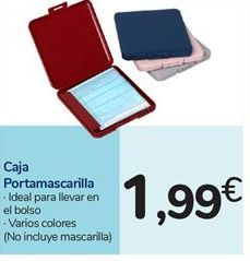Oferta de Caja Portamascarilla por 1,99€