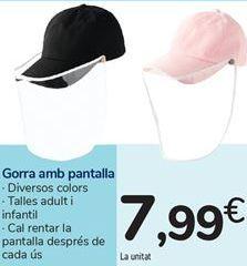 Oferta de Gorra con pantalla por 7,99€