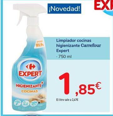 Oferta de Limpiador cocinas higienizante Carrefour Expert por 1,85€