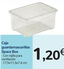 Oferta de Caja guardamascarillas por 1,2€