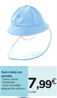 Oferta de Gorro bebé con pantalla por 7,99€