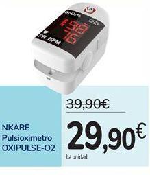 Oferta de NKARE Pulsioximetro OXIPULSE-O2 por 29,9€