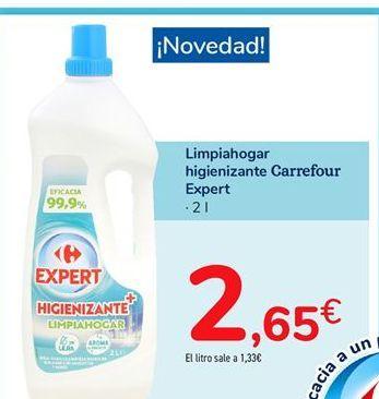 Oferta de Limpiahogar higienizante Carrefour Expert por 2,65€