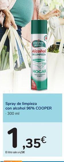 Oferta de Spray de limpieza con alcohol 96% COOPER por 1,35€