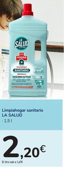 Oferta de Limpiahogar sanitario LA SALUD por 2,2€