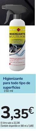 Oferta de Higienizante para todo tipo de superficies por 3,35€