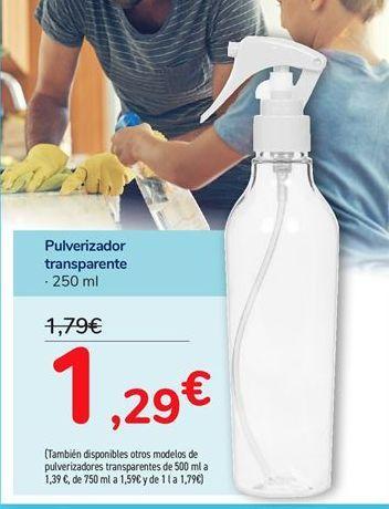 Oferta de Pulverizador transparente por 1,29€