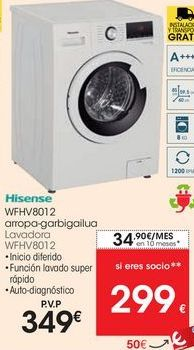 Oferta de Lavadoras Hisense por 349€