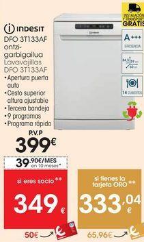 Oferta de Lavavajillas Indesit por 399€