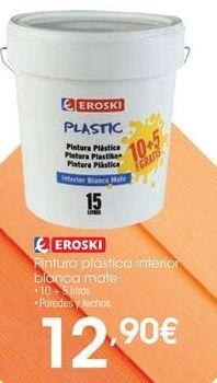 Oferta de Pintura plástica eroski por 12,9€