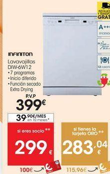 Oferta de Lavavajillas infiniton por 399€