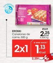 Oferta de Canelones eroski por 2,25€