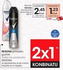Oferta de Desodorante en spray Rexona por 2,45€